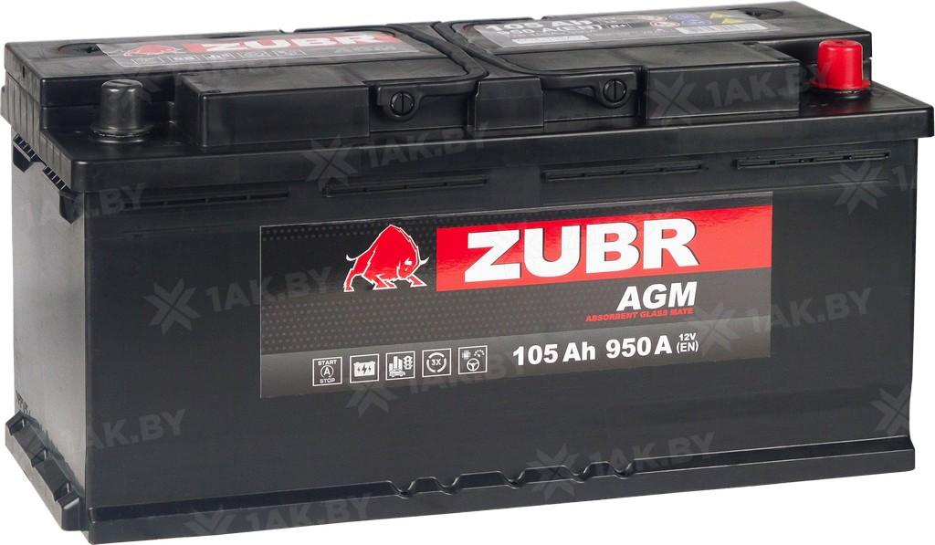 Аккумулятор ZUBR AGM (105A/h), 950A R+ складские остатки