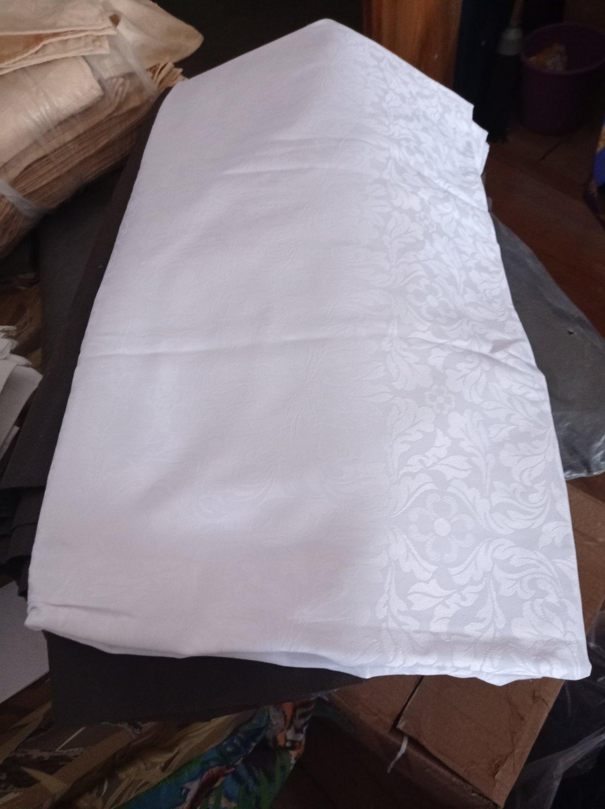 Скатерть белая 180*150 (6 салфеток) складские остатки